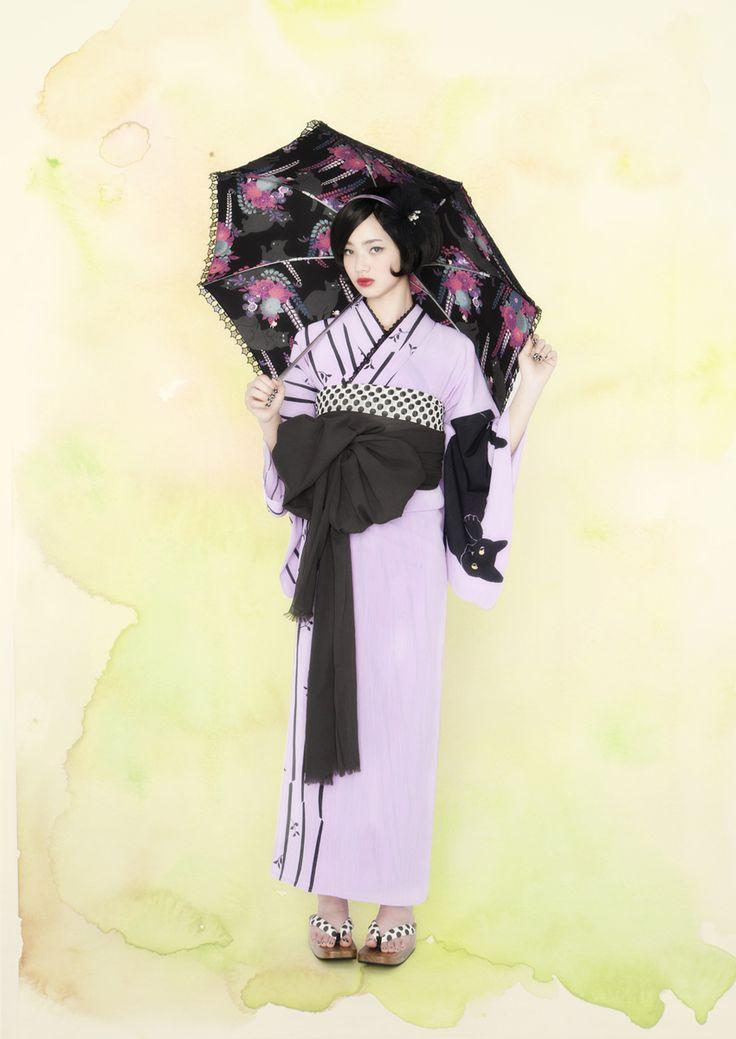 着物で楽しむガーリースタイル。大人カワイイ「ふりふ」の着物