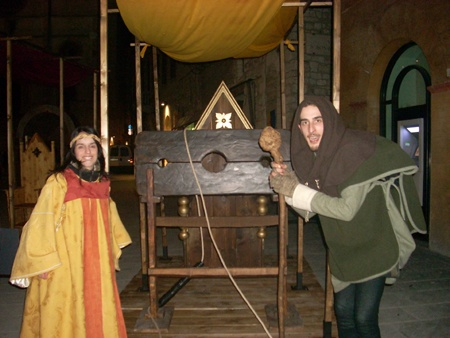 Me and my collegue Luca during the Medieval Carnival in Todi.
