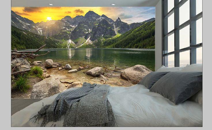 Zachód słońca w sypialni :-) http://mural24.pl/konfiguracja-produktu/119906878/ #homedecor #fototapeta #obraz #aranżacjawnętrz #wystrójwnętrz, #decor #desing