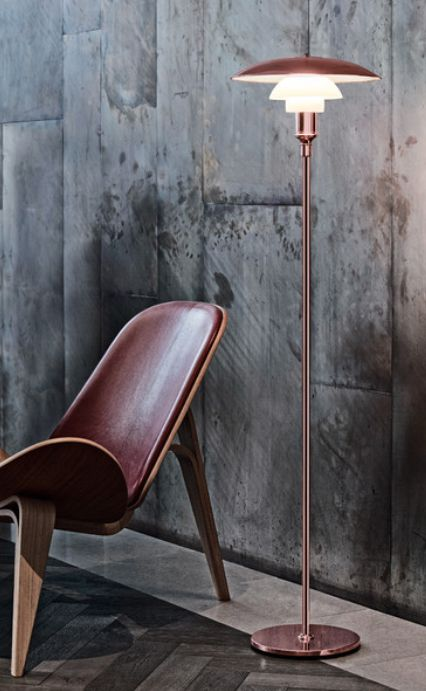Louis Poulsen celebrates 90th anniversary of designer Poul Henningsen's pioneering three-shade system with launch of a limited edition copper PH 3½-2½ Floor Lamp which will only be sold for a limited period from 1 October to 31 December 2016.