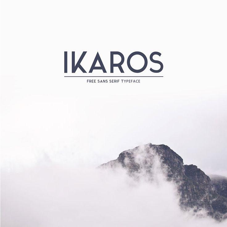 Typographie : Elle est gratuite et elle s'appelle « ikaros »