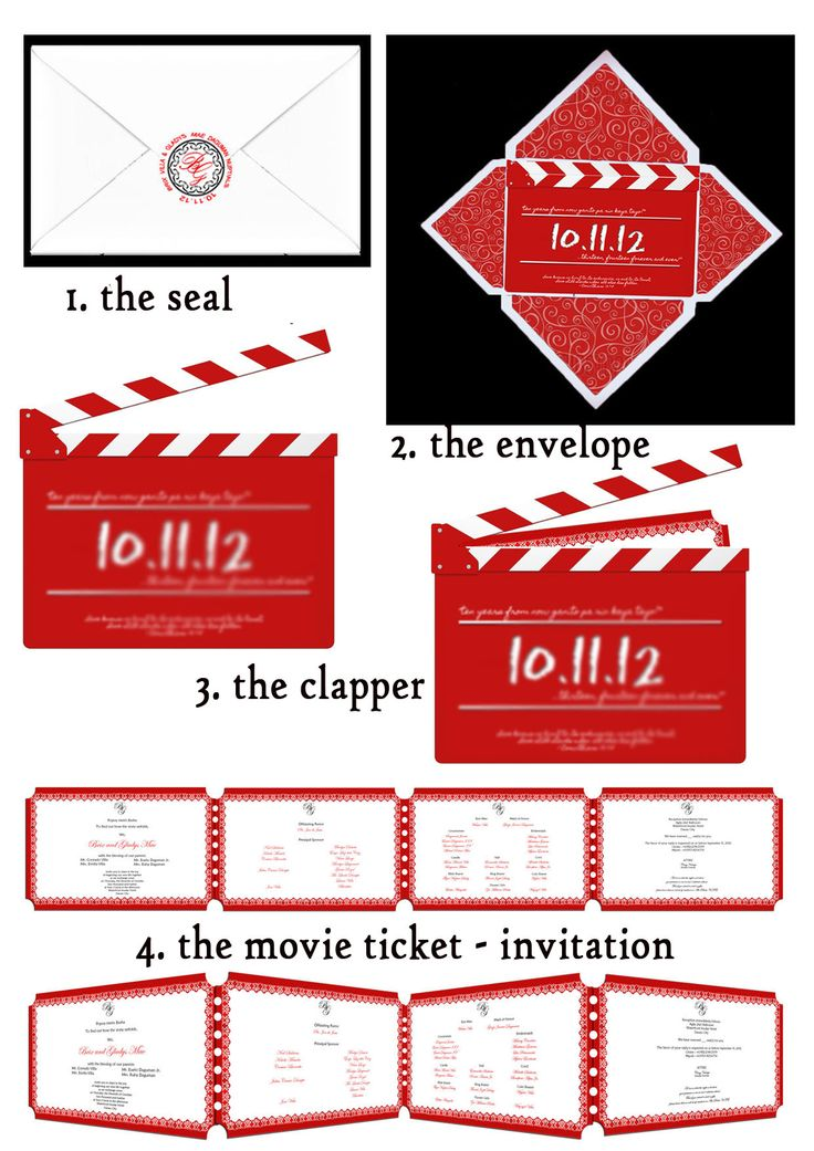 176 best Movie Theme Party images on Pinterest Hollywood party - movie themed invitation template