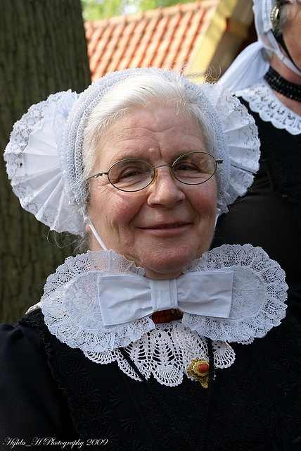 Traditional Dutch Costume from Oldebroek (Gelderland).