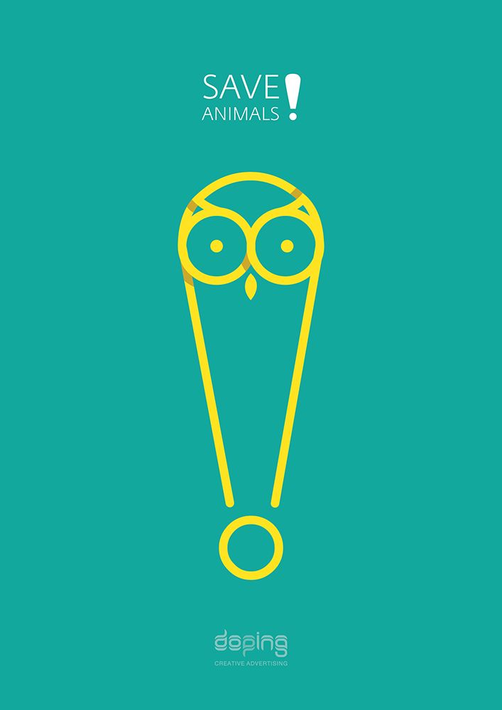 Save animals | poster series on Behance