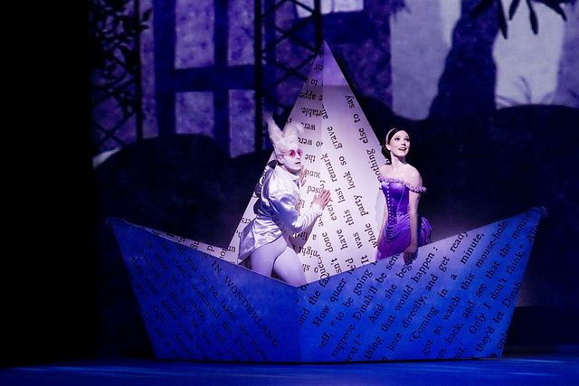 Sarah Lamb as Alice, and Jonathan Howells in Alice's Adventures in Wonderland. by Royal Opera House Covent Garden