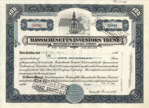 The Massachusetts Investors Fund was the first official mutual fund, created on March 21st, 1924.