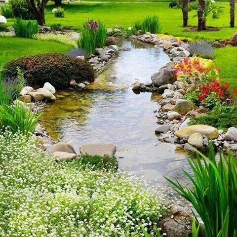 pretty garden pond
