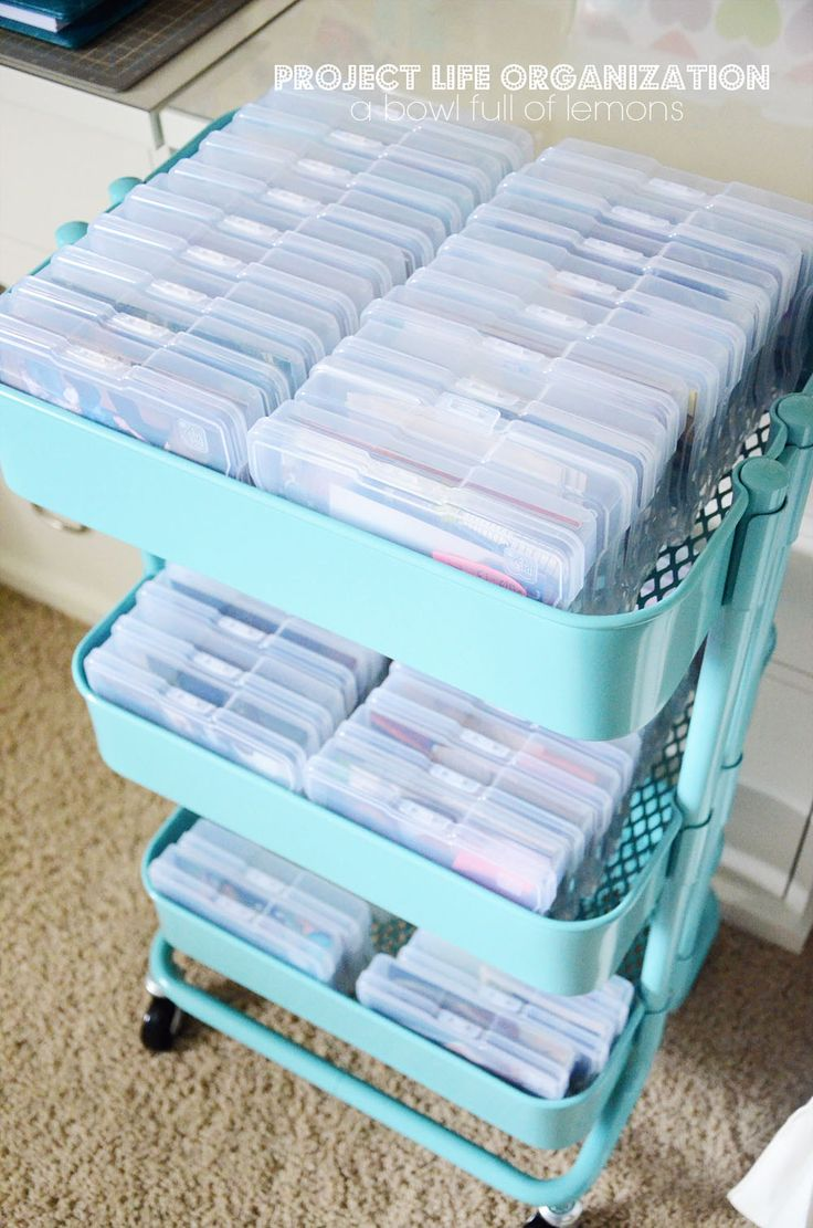 The ULTIMATE in organizing for Project Life and scrapbooking fans. This post is stuffed full of ideas on how to keep everything organized and ready-to-use. Via A Bowl Full of Lemons