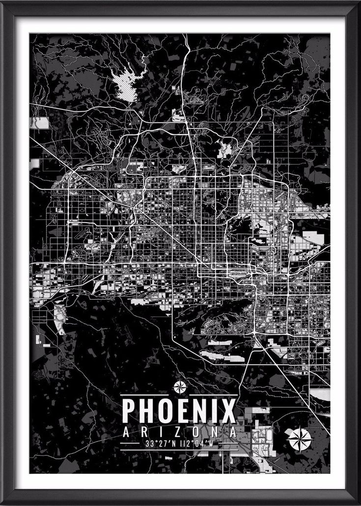 Phoenix Arizona Map with Coordinates