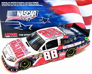 2012 Dale Earnhardt Jr. #88 Nascar Unites 1:24 Scale $64.95  http://www.kcautoacc.com/2012-Dale-Earnhardt-Jr-Nascar-Unites-88-124-Scale-Diecast-C882821N9EJ_p_11283.html  NASCAR Unites: An American Salute program. For the first time ever, the NASCAR community is coming together for an all-encompassing salute to America. The program will run from the Coca-Cola 600 at Charlotte Motor Speedway through the Coke Zero 400 at Daytona International Speedway.