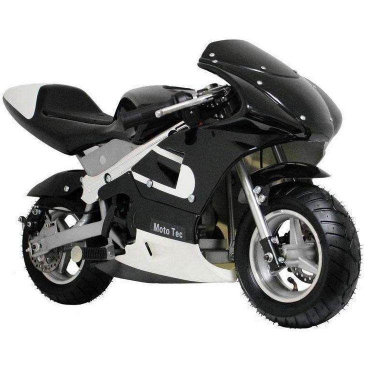 MotoTec 33cc 2-Stroke Gas Powered Pocket Bike