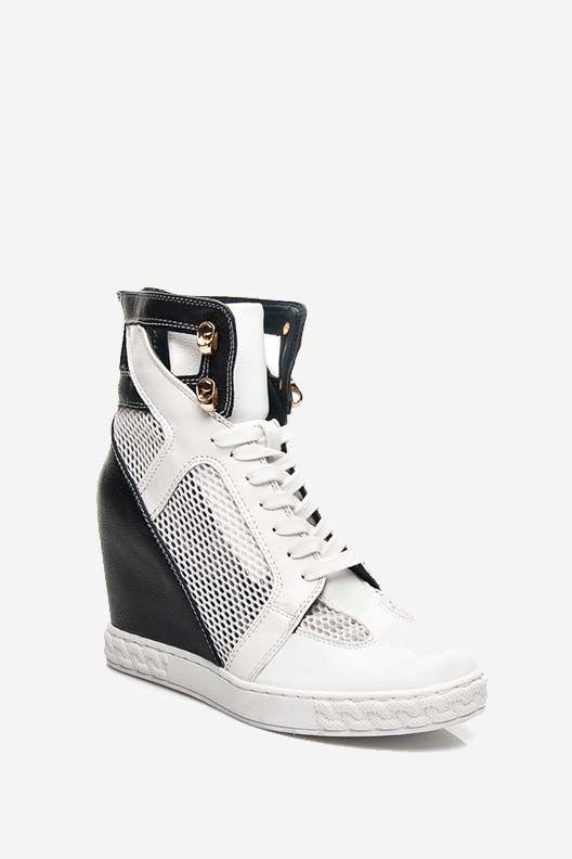 Sneakersy na koturnie Lilly czarne