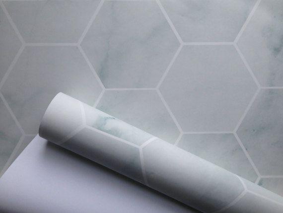 Removable Wallpaper Marble wallpaper hexagon geometric