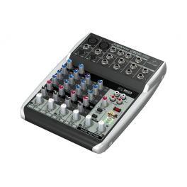 PRO AUDIO, LIVE SOUND & DJ,MESAS DE MEZCLAS,MESA DE MEZCLAS - BEHRINGER 013610 - Q802USB-EU. MESA DE MEZCLAS Mesa de mezclas analógica de 8 entradas y 2 buses con preamplificadores de micrófono XENYX, ecualizadores ''British'' con compresores incluidos. Interfaz USB/Audio y software de producción. 2 previos de micro con phantom, 1 envío de control externo por canal. Salidas de mezcla principal jack de 2,5 mm, salidas de grabación estéreo. Fuente de alimentación externa. #Ofertas #Descuentos
