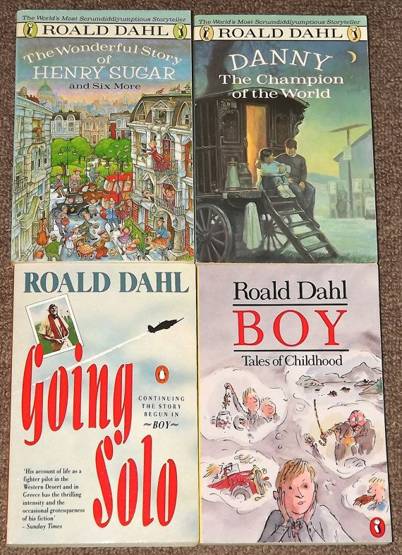 4 Roald Dahl books Boy Going Solo Danny the by mainelykidsbooks