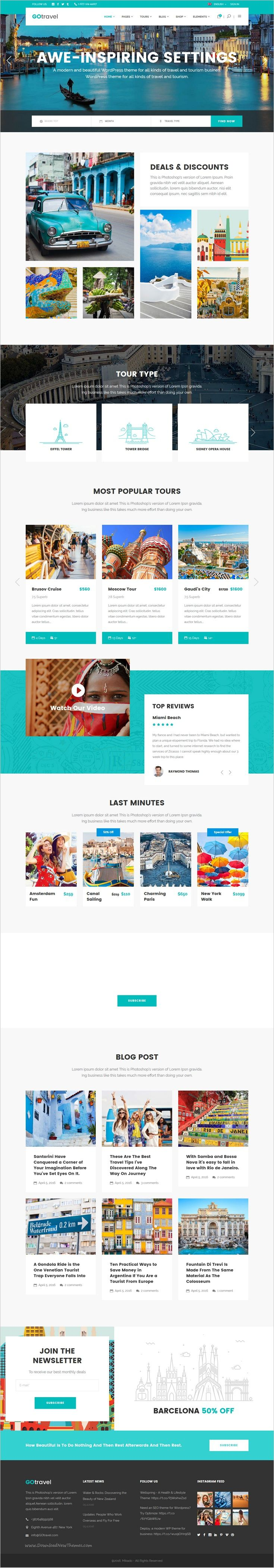 GoTravel is a wonderful responsive #WordPress theme for #travel and tour agencies perfect #websites download now➩ https://themeforest.net/item/gotravel-a-travel-agency-tourism-theme/18939921?ref=Datasata