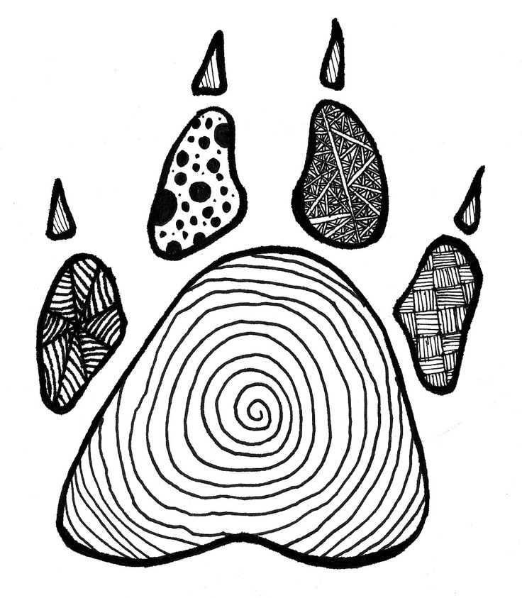 Zentangle Paw Print