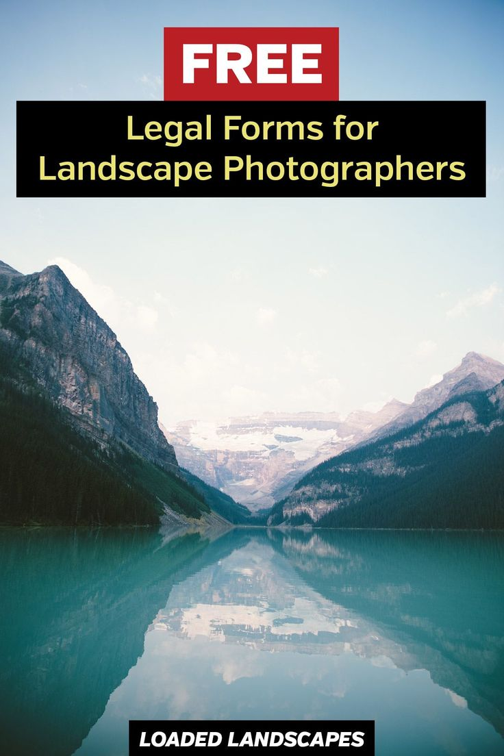 Free Contracts and Legal Forms for Landscape Photographers - download a template for fine art photography sale, property release, licensing agreement, and liability waiver for photo tours and workshops.