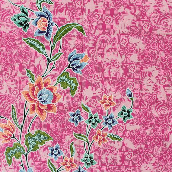 Very pink with flowers print pure cotton by TheThailand on Etsy, $17.00