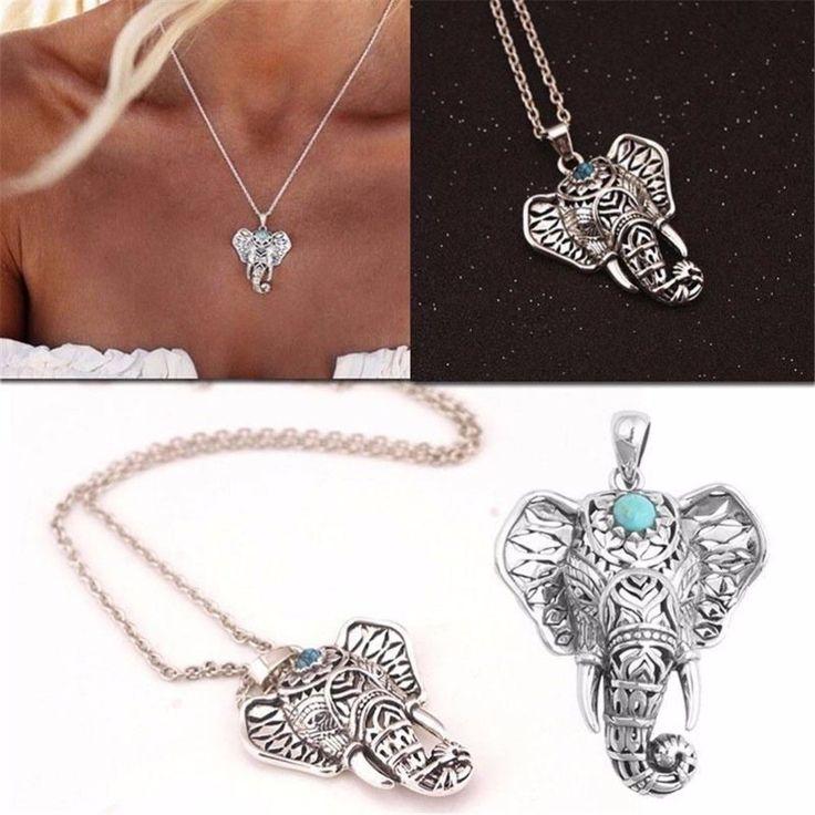 NEW Antique Vintage Elephant Head Pendant Necklace Chain Canadian Seller   eBay