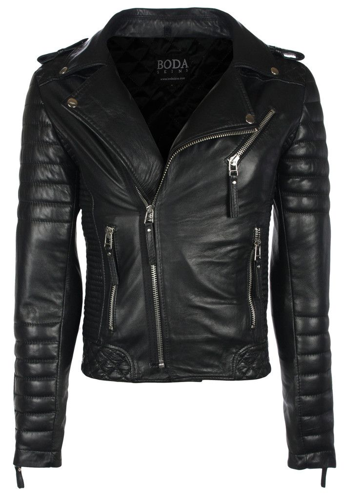 Kay Michaels Quilted Biker Oil Black Leather Jackets