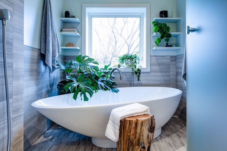 No matter your bathroom is too small. By adding a touch of nature, it will look incredibly lovely and stunning. ➤To see more Luxury Bathroom ideas visit us at www.luxurybathrooms.eu #luxurybathrooms #homedecorideas #bathroomideas @BathroomsLuxury