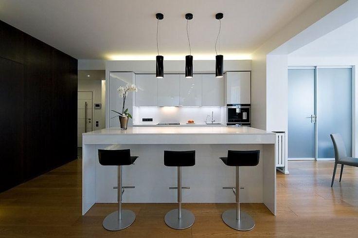 Decoraci n interior de departamento moderno y minimalista - Comedor moderno minimalista ...