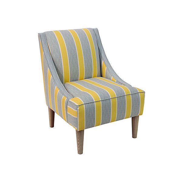 Blue And Yellow Accent Chair
