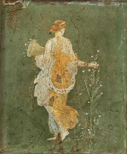 'Flora'  Roman fresco Pompeii - 1st Century A.D. by Plum leaves, via Flickr