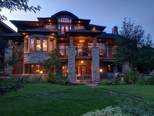 huge cabin house.