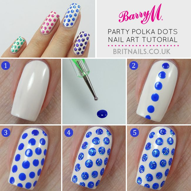 Brit Nails: Party Polka Dots Tutorial for Barry M