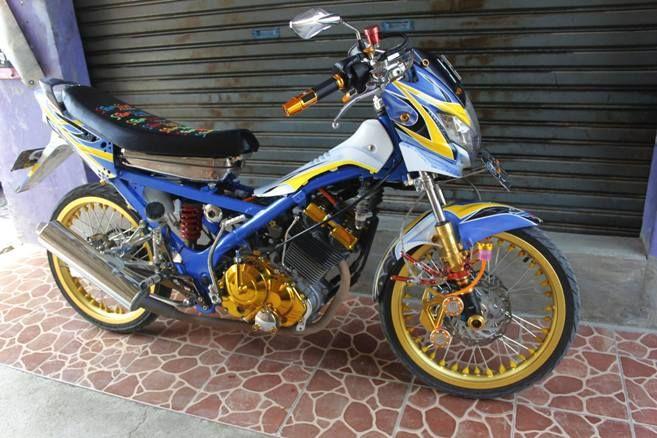 gambar foto Modifikasi Motor Satria FU terbaru 2015