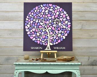 Personalizzato 3D matrimonio ospiti libro alternativo albero