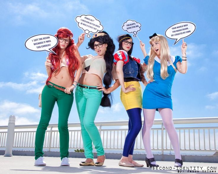 Hipster Disney: Girls Group Costumes, Hipsters, Halloween Costumes, Hipster Princess, Disney Princesses Costumes, Hipster Disney Princesses, Disney Princesses Hipster, Disney Princess Hipster, Costumes Ideas