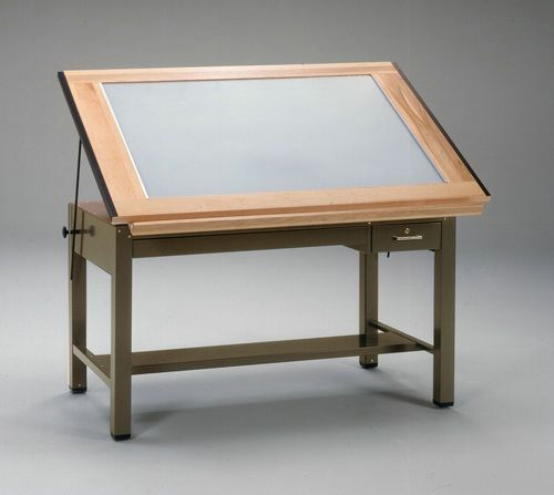 Traditional Drafting Table Glass