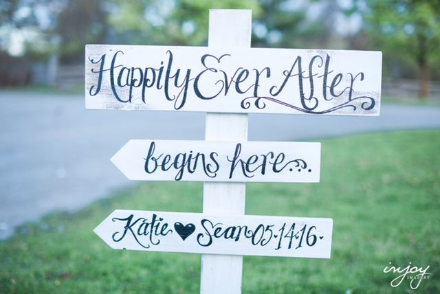 Custom Wooden Directional Sign for your Wedding Reception