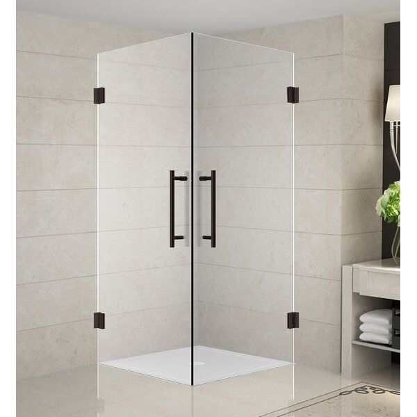 Vanora Frameless 36 X 72 Square Hinged Shower Enclosure Square