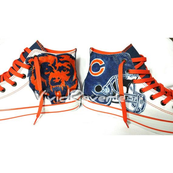Custom Chicago Bears Shoes Ask about other teams by VividReverie, $150.00