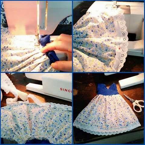 Dress sewing baby amigurumi
