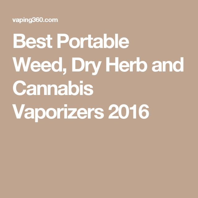 Best Portable Weed, Dry Herb and Cannabis Vaporizers 2016
