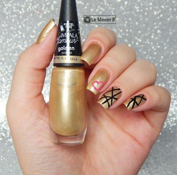 #nail #nails #nailart #art #polish #polishnail #lacquer #naillacquer #cromo #cromado #esmalte #unha #unhas #manicure #mani #dourado #gold #golden #efeito #effect #ouro #heart #love #coraçao #lovenails