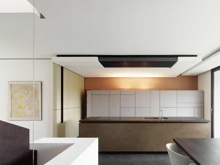 Architecture, Architecture Home Interior Design Contemporary Kitchen Island Cabinet Beadboard Wall Lights Tap Dining Table Painting: Enchant...