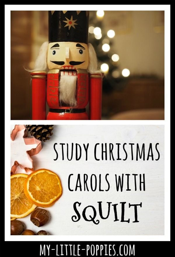 homeschool, homeschooling, unit study, christmas unit study, music study, music appreciation, home education, Study Christmas Carols with SQUILT | My Little Poppies