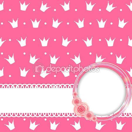 Принцесса короны фон векторные иллюстрации — Stock Illustration #55073505