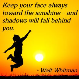 cheer someone up quotes | Walt Whitman on cheering up