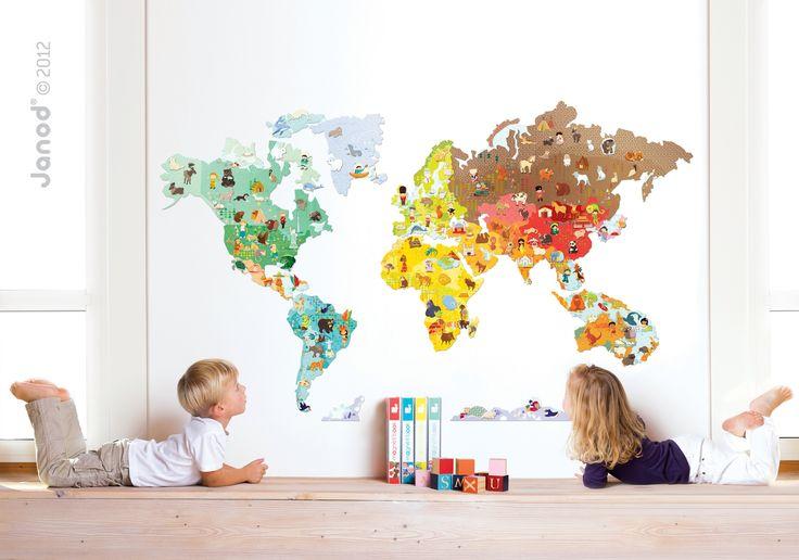 JANOD magnetická dekorace World Magneti' Stick je ozdoba do dětského pokoje vhodná pro děti od 7 let. Nálepka na stěnu pro děti rozzáří každý pokoj dítěte.