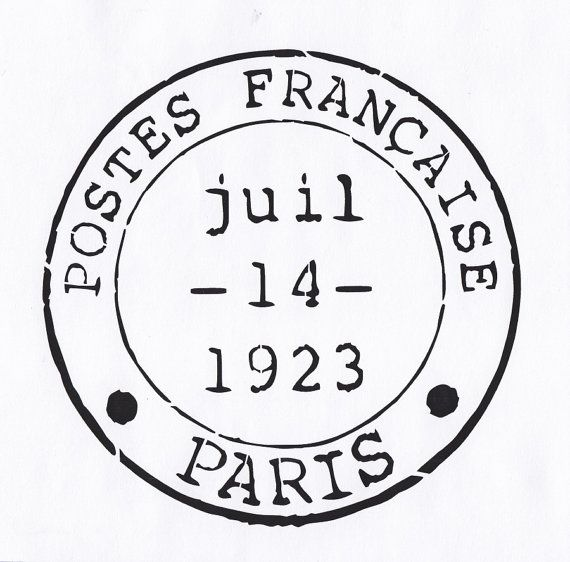 Paris Stencil French Postmark Stencil Paris France