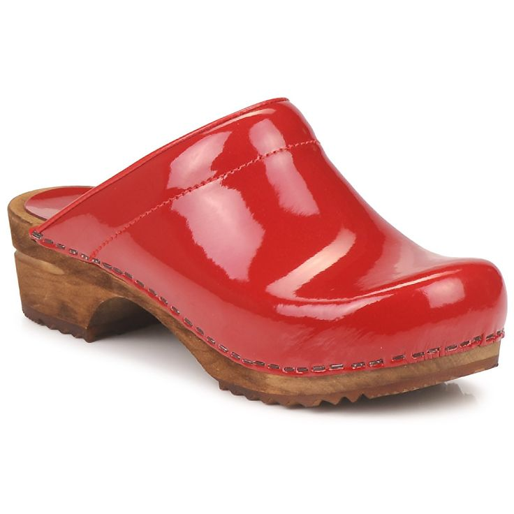 Shiny red clogs...had the same when I was 4