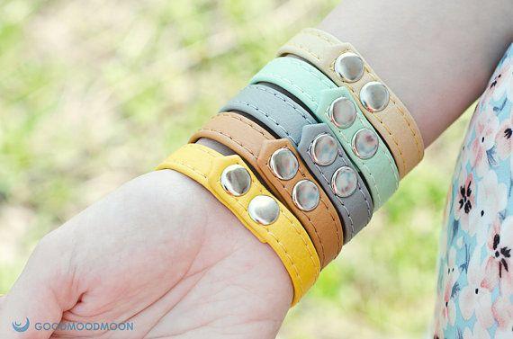 Colorful bracelet Zebra in Love eco leather von GoodMoodMoon