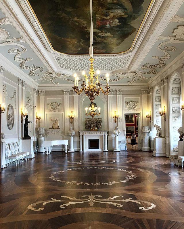 Gatchina Palace • Гатчинский дворец  White Hall • Белый зал (1766~1781, Antonio Rinaldi / Антонио Ринальди (1709~1794)